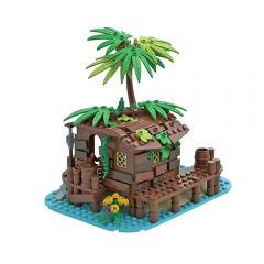 MOC Pirate Shed / 21322 Barracuda Bay extension