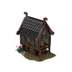 MOC-66633 Medieval merchant store MOC