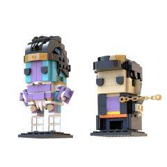 MOC Jotaro & Star Platinum Brickheadz (JoJo's Bizarre Adventure)