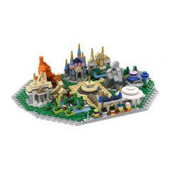 MOC Lego Disneyland Microscale