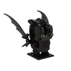 MOC How To Train Your Dragon Toothless MOC Brickheadz