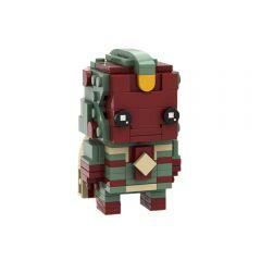 Vision Brickheadz LEGO MOC - Marvel Studios WandaVisionby Eugenio Iacono