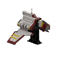 MOC Republic Nu-class Attack Shuttle - the Clone Wars (with interior)