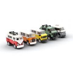 MOC-46056 Mini VW camper vans - T1, T2, T3, T3 Syncro and T6