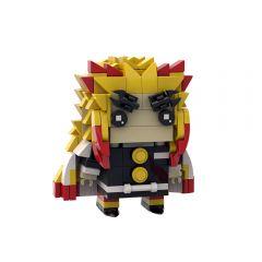 MOC Rengoku Kyoujurou Brickheadz Demon Slayer