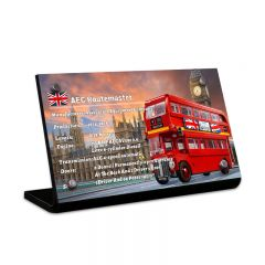 LEGO 10258 London Bus Acrylic Information Sign