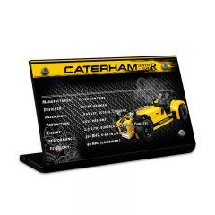 LEGO 21307 Caterham Seven 620R Acrylic Information Sign