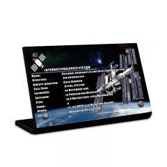 LEGO 21321 International Space Station Acrylic Information Sign