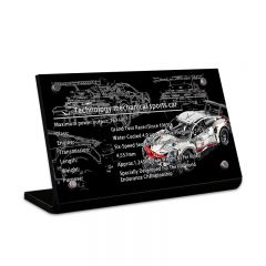 LEGO 42096 Porsche 911 RSR Acrylic Information Sign