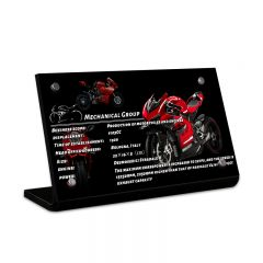 LEGO 42107 Ducati Panigale V4 R Acrylic Information Sign