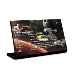 LEGO 75181 Y-Wing Starfighter Acrylic Information Sign