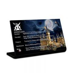 LEGO 71043 Hogwarts Castle Acrylic Information Sign