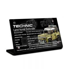 LEGO 42110 Land Rover Defender Acrylic Information Sign