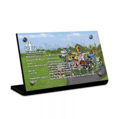 LEGO 10244 Fairground Mixer Acrylic Information Sign