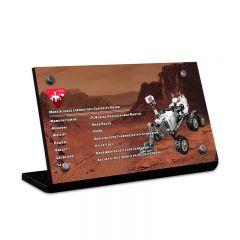 LEGO 21104 NASA Mars Science Laboratory Curiosity Rover Acrylic Information Sign